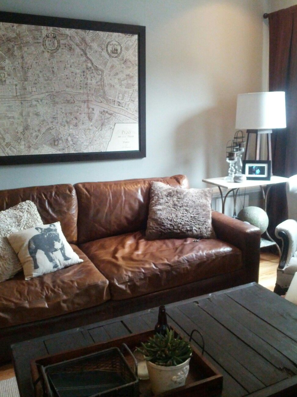 Restoration Hardware Leather Couch Pallet Coffee Table Pottery - Restoration hardware leather sofas