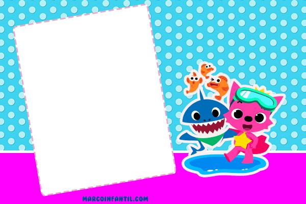 Invitaciones Para Imprimir De Baby Shark Invitaciones De