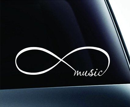 Amazon com: Infinity Music Symbol Decal Funny Car Truck Sticker