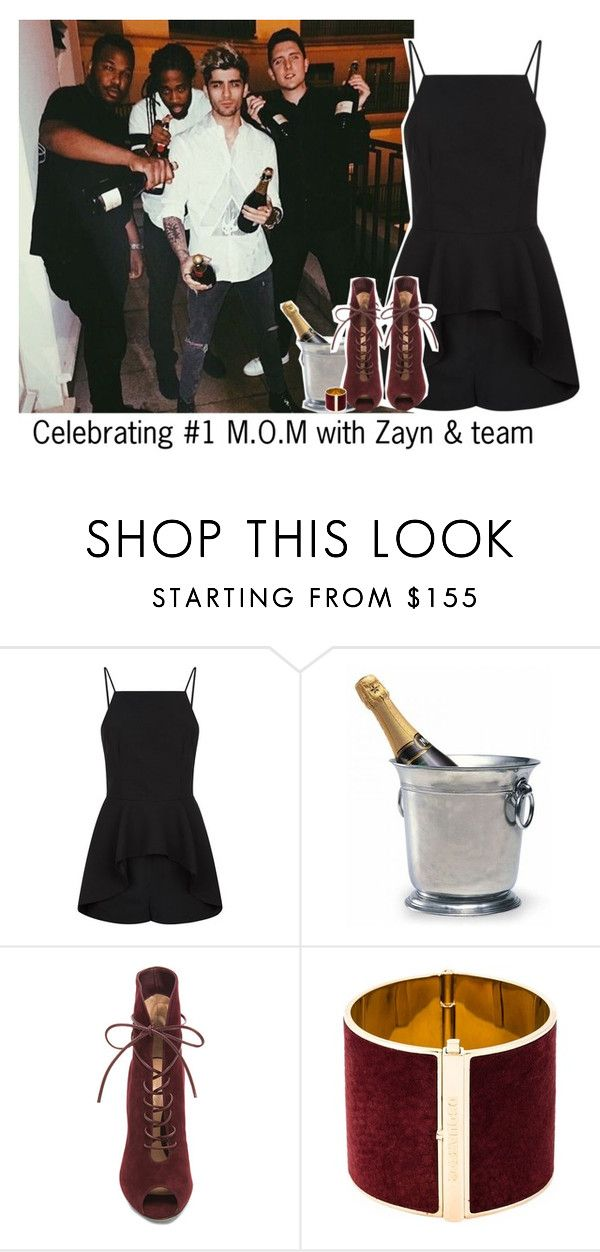 """""""Celebrating #1 M.O.M with Zayn & team"""" by reasongirl ❤ liked on Polyvore featuring Finders Keepers, Match, Gianvito Rossi and Dsquared2"""