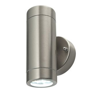 newest fed6c b903a LAP Bronx Brushed Stainless Steel LED Up & Down Wall Light ...