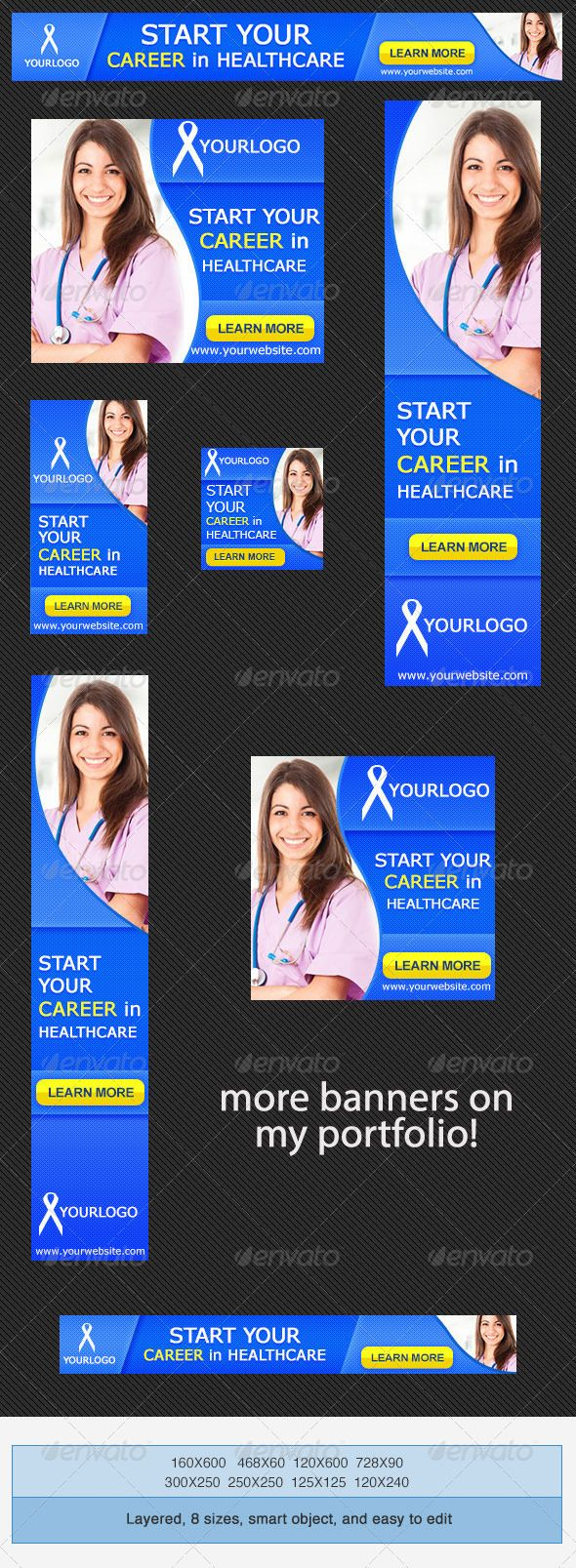 Medical Career Banner Ad Template – Career Assessment Template