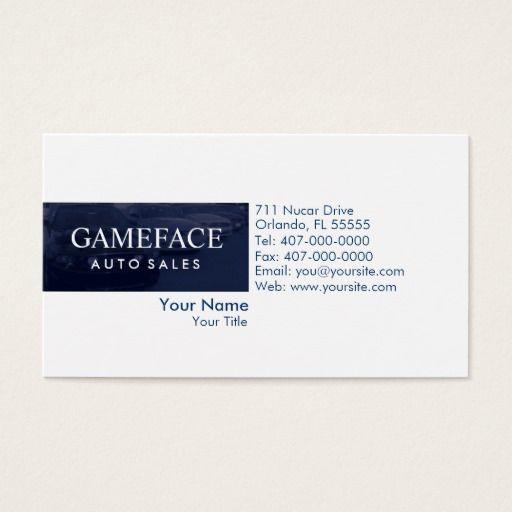 Car Dealership Auto Sales Business Card Auto Sales Business Cards