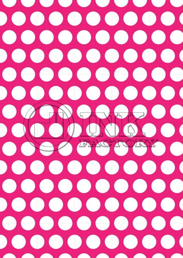 FREE scrapbook paper printable White polka dots on fuchsia