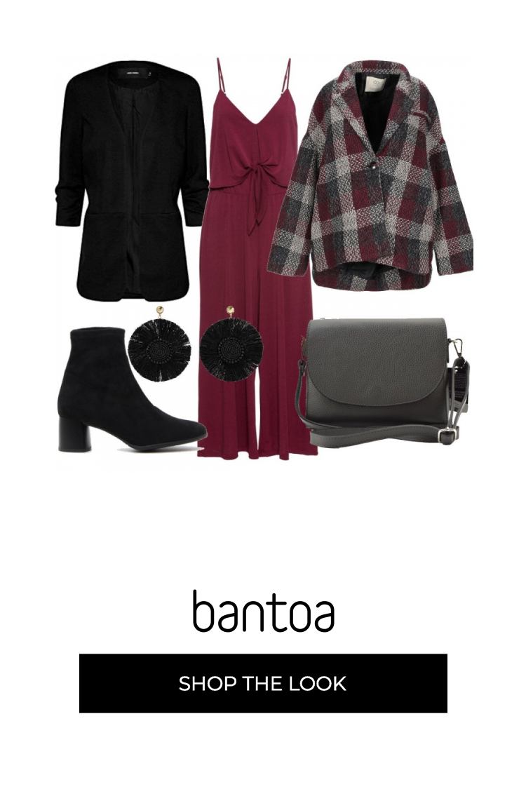 giacca bordeaux nero quadri