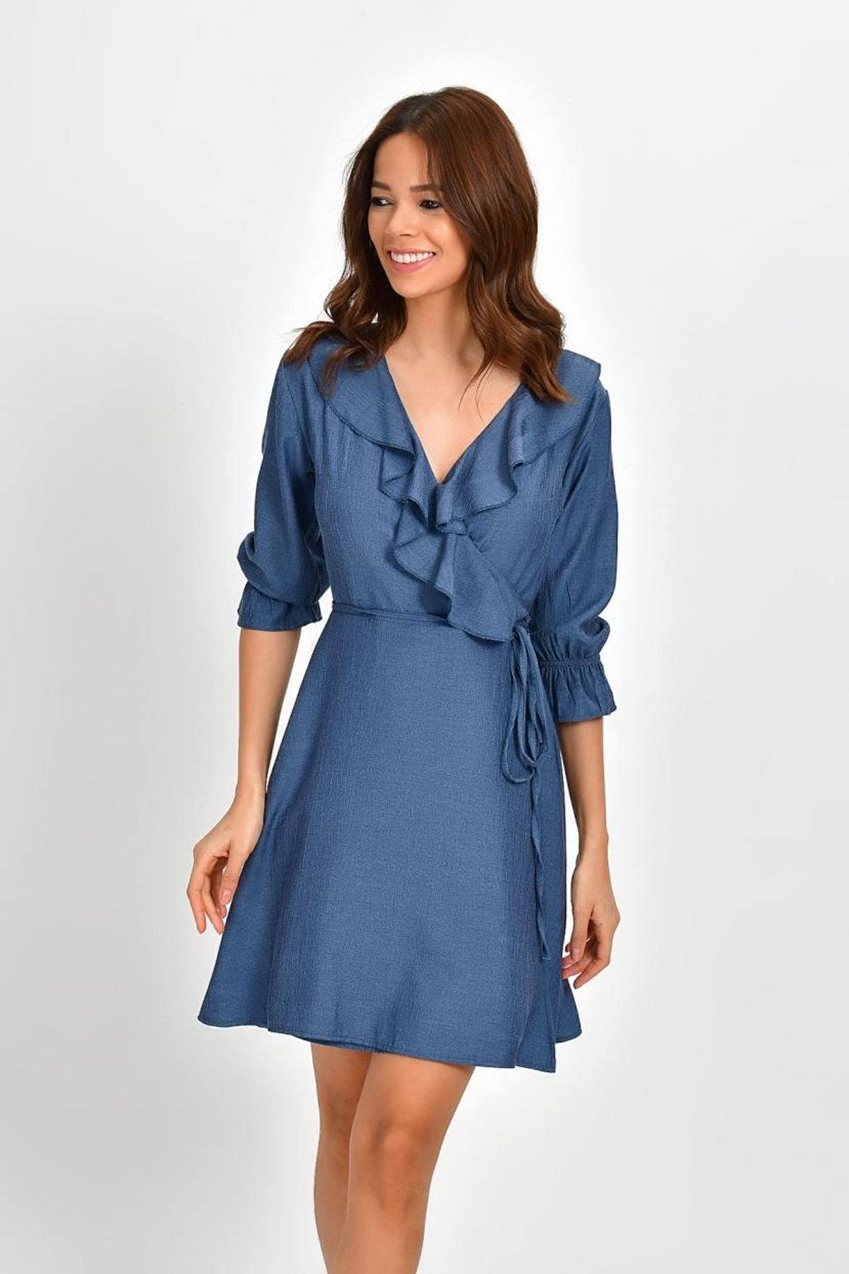 فستان ازرق كيوت كاجوال