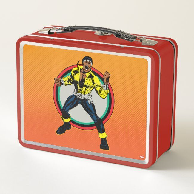 Luke Cage Retro Character Art Metal Lunch Box #affiliate , #Sponsored, #Art, #Character, #Lunch, #Metal, #Luke