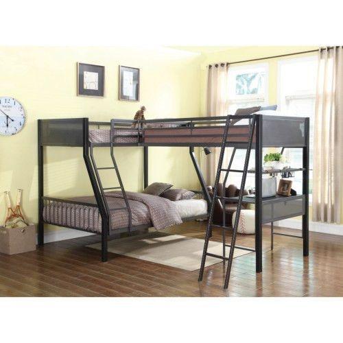 Declan Metal Triple Bunk Bed With Desk Loft Bunk Beds Bunk Beds With Stairs Bunk Beds