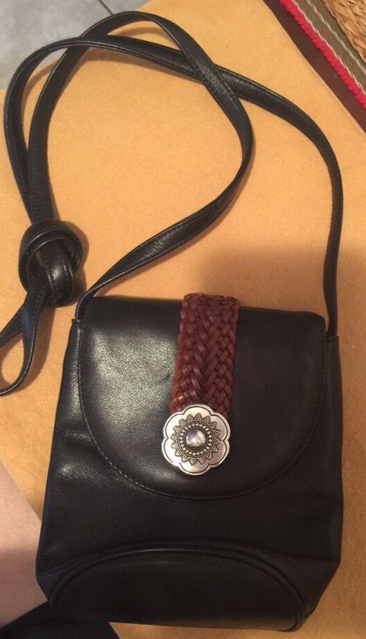 Brighton Mini Crossbody Purse Black Leather Rarely Used Ebay