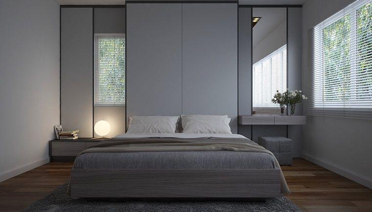 Camera Da Letto Stile Minimalista : Arredamento camera da letto stile minimal grigio interior design