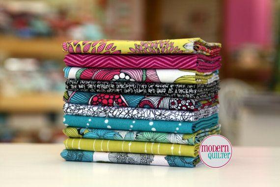 Half Yard Designer Fabric Bundle 10 HYs of by ModernQuilter, $50.00