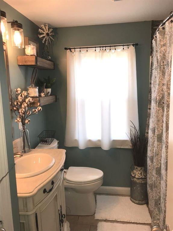 Stephanie Jorge saved to BathroomPin22kFarmhouse bathroom MasterBathrooms is part of Small bathroom remodel -