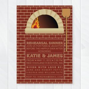 Pizza Oven Rehearsal Dinner Invitation Brick Oven Couple S Baby Shower Invite Pizza Party Invitation Out Pizza Party Rehearsal Dinner Pizza Party Invitations