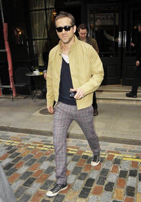 d26ea19d8b1cb0 Ryan Reynolds suit pants   CONVERSE All Star