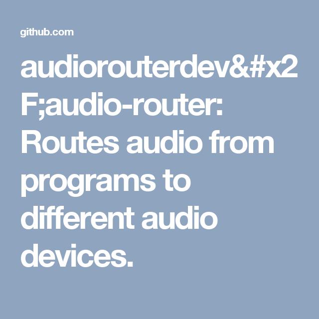 Faudio Github