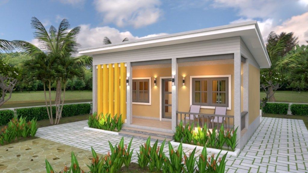 House Plans 7x6 With One Bedroom Cross Gable Roof Tiny House Design 3d Small House Design Plans Small House Plans Tiny House Design