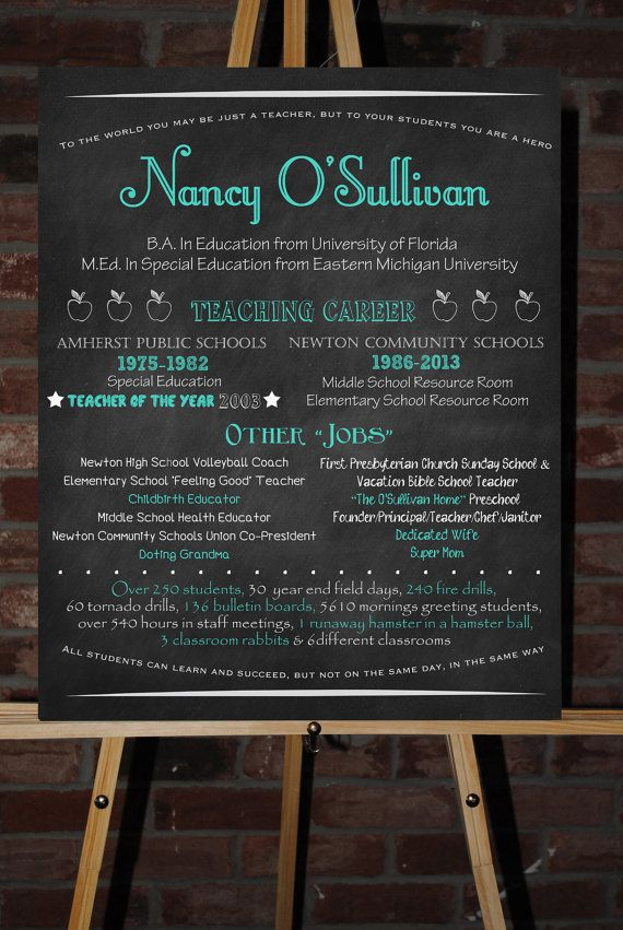 Custom Retirement Board Poster Sign Gift  Retirement Retirement