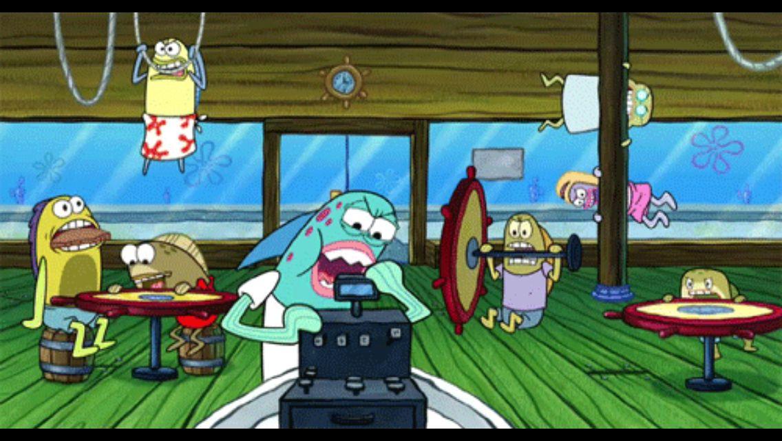 Hangry customers at the Krusty Krab Spongebob memes