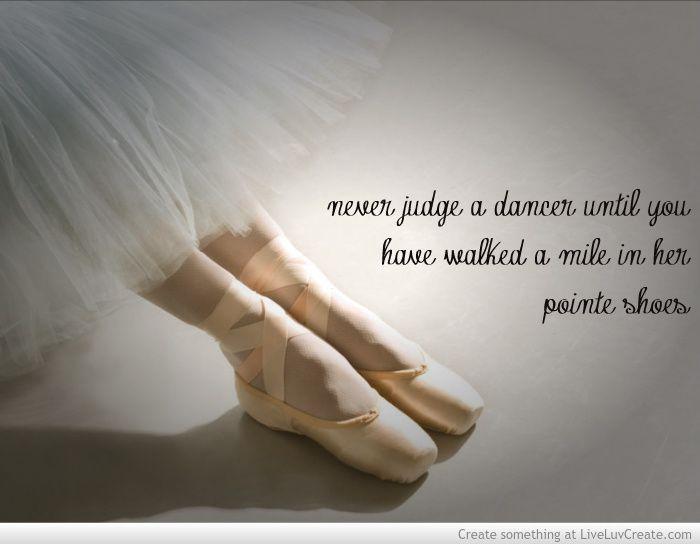 Never Judge A Dancer Until You Have
