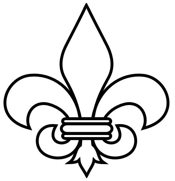 Boy Scout Symbol Scal Svg Art Fleur De Lis Coloring Pages
