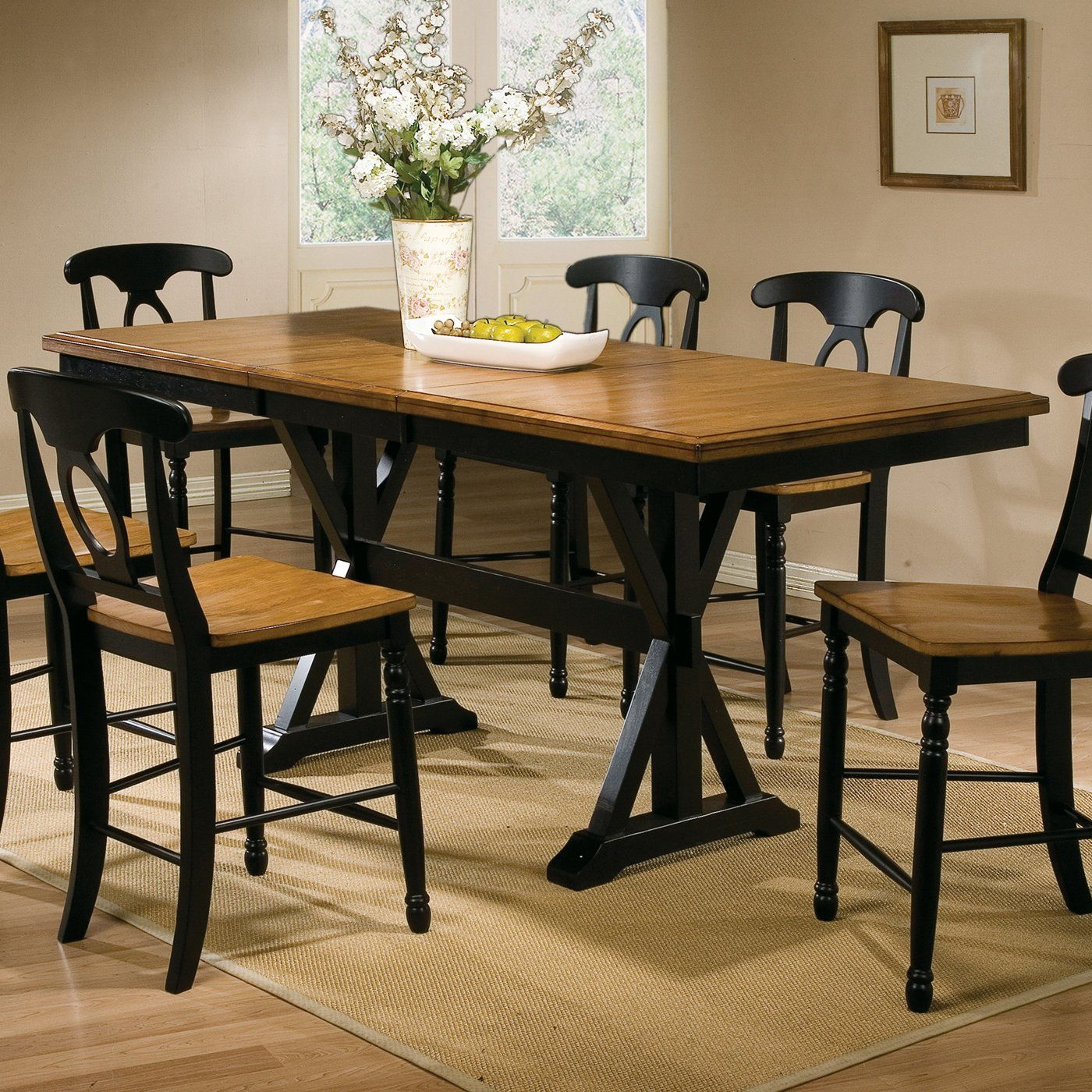 Winners Only DQT13678 Quails Run Counter Height Trestle Dining Table ...