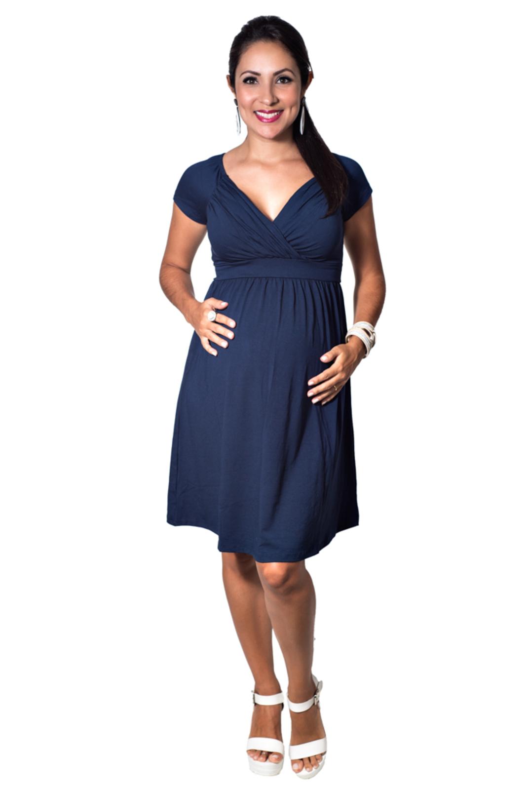 Vestido Mundo Gestante Amamentação Top Azul Marinho