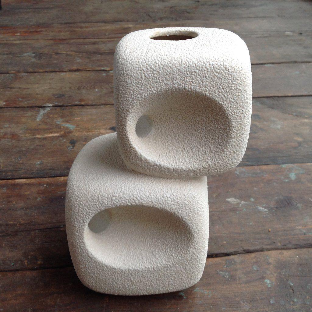 Bertoncello Schiavon chimney Vase double cubes Ufo vaas Pinterest