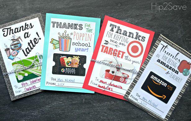 FREE PRINTABLE GIFT CARD HOLDER FOR TEACHER GIFTS #teachergifts