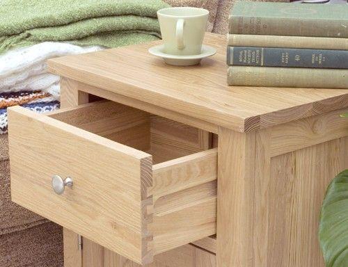 bonsoni mobel oak one door one drawer lamp table superb contemporary oak lamp table https