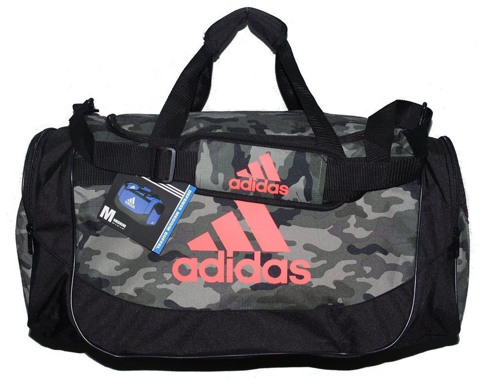 ba74231013 adidas Camo Defense Medium Duffel Bag Sport Gym Travel Green Solar Red  #adidas #DuffleBag