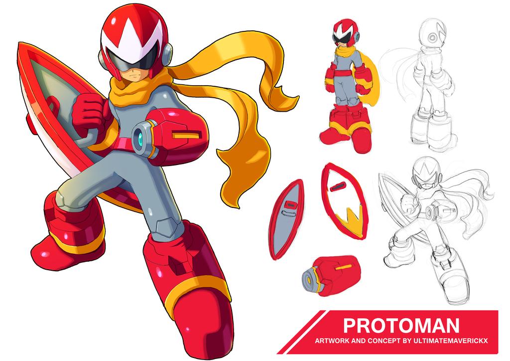 Megaman 11 Protoman By Ultimatemaverickx On Deviantart Mega Man Art Megaman 11 Mega Man
