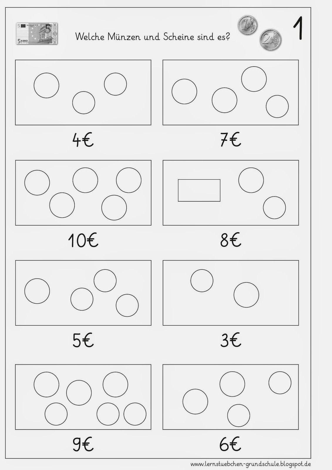 geldbetr ge nach vorgaben legen mathe unterrichten geld und rechnen mit geld. Black Bedroom Furniture Sets. Home Design Ideas