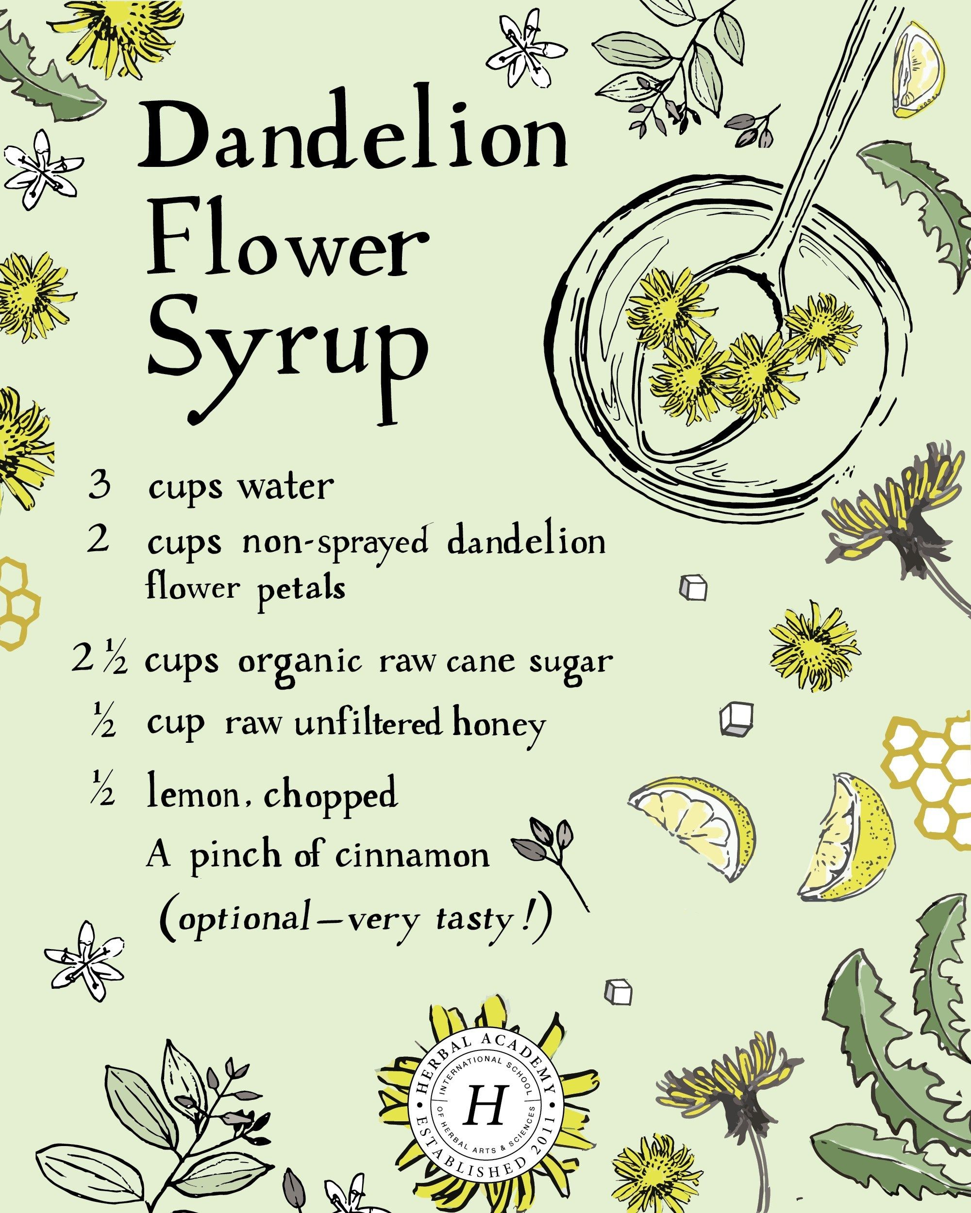 Dandelion Flower Syrup Recipe All Recipes Uk Syrup Recipe Dandelion Homemade Food Gifts