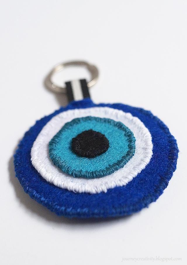 DIY Eye felt keychain - Journey into Creativity
