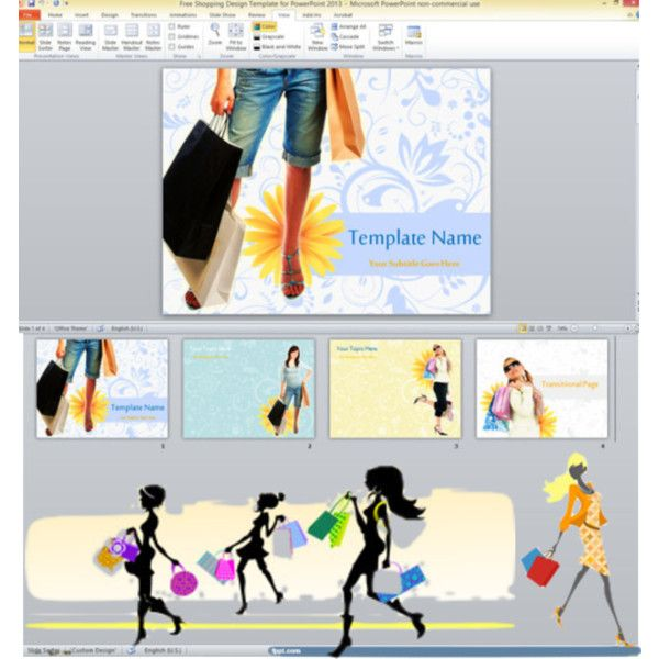 free shopping design ppt templates for fashion business