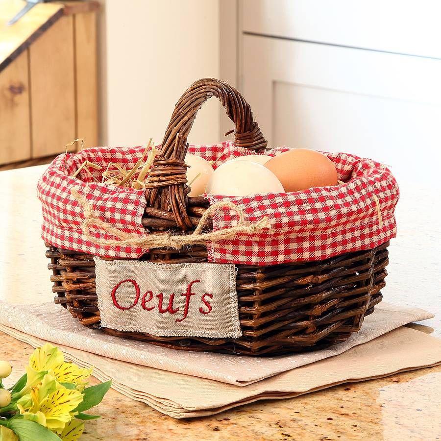 'oeufs' egg storage basket by dibor | notonthehighstreet.com