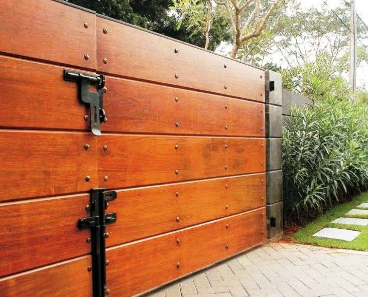 45+ model desain pagar kayu minimalis sederhana (kayu jati ...
