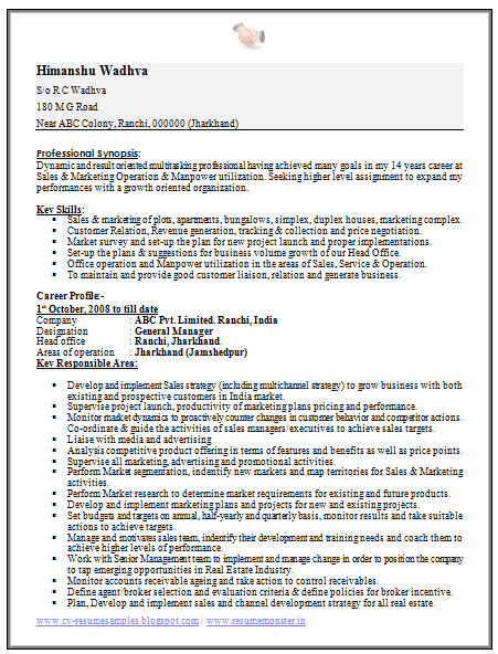 graduate sales resume sample 1 - Resume Sample For Fresh Graduate Free Download