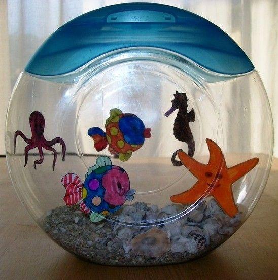 Aquarium et pinterest poissons activit et for Bocal plastique poisson
