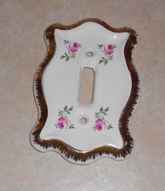 Vintage Antique Ceramic Porcelain Light by VintageTrendyCharm