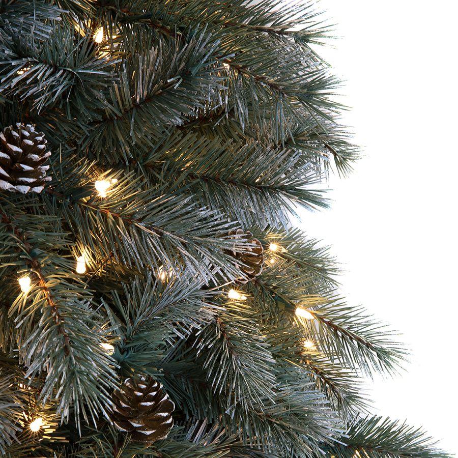 shop ge 75 ft pre lit scotch pine artificial christmas tree with 700 - Pre Lit Christmas Tree Lowes