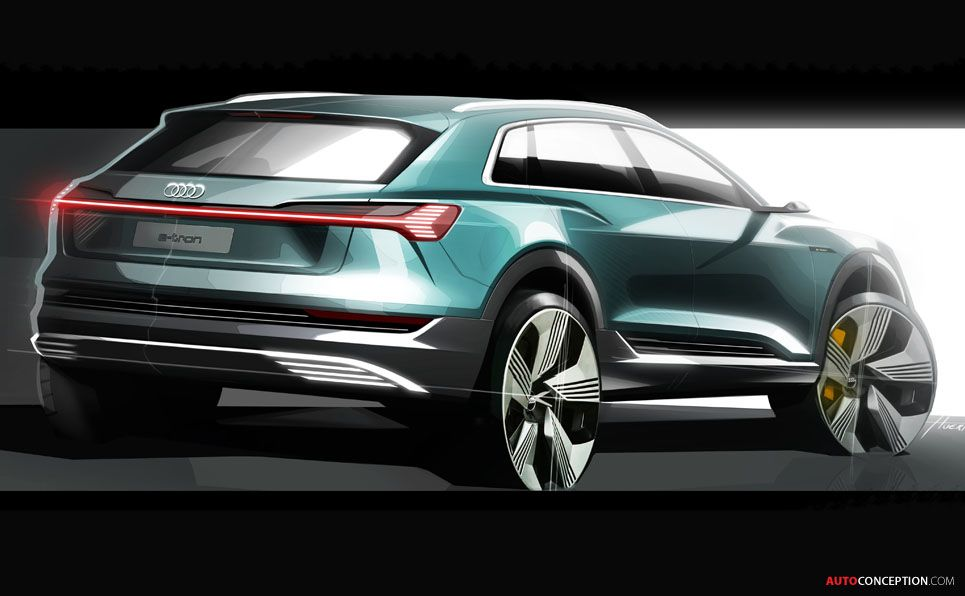 Audi Suv Models >> 2019 Audi E Tron Audi Suv Models Car Design Sketch