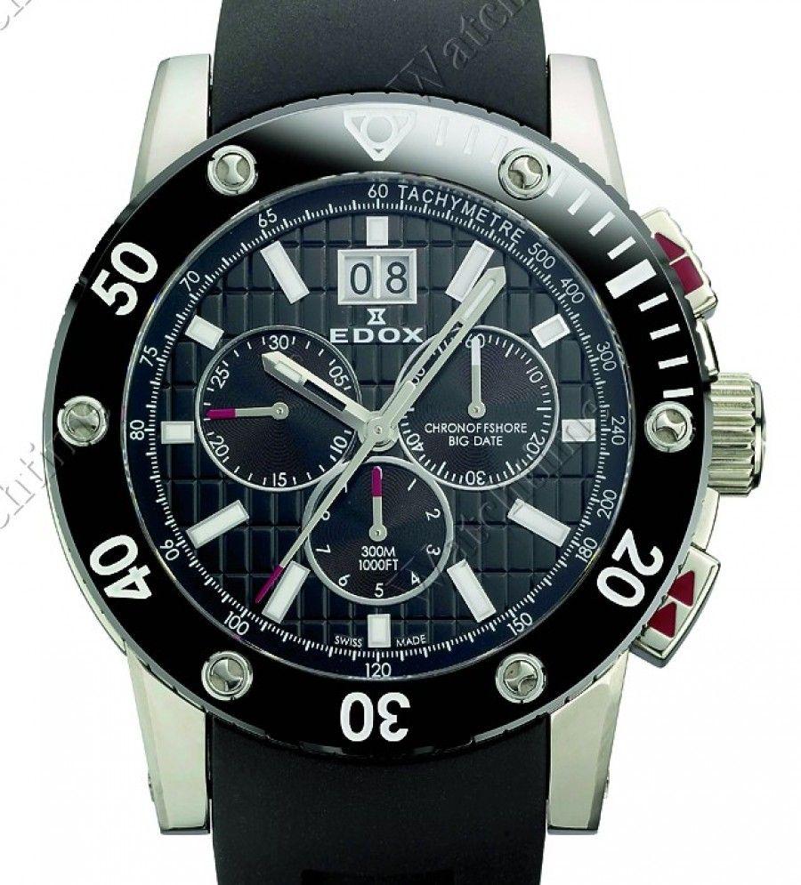 Edox   Class 1 Chronograph Big Date   Edelstahl   Uhren-Datenbank watchtime.net