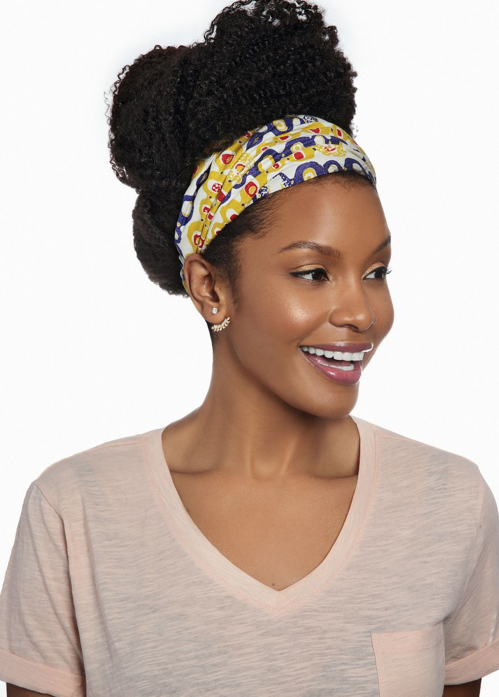 Yellow Purple African Print Turban Headband is lined in white satin to  prevent friction between the cotton fabric and your fragile hair strands. b5e2d4b0f7a