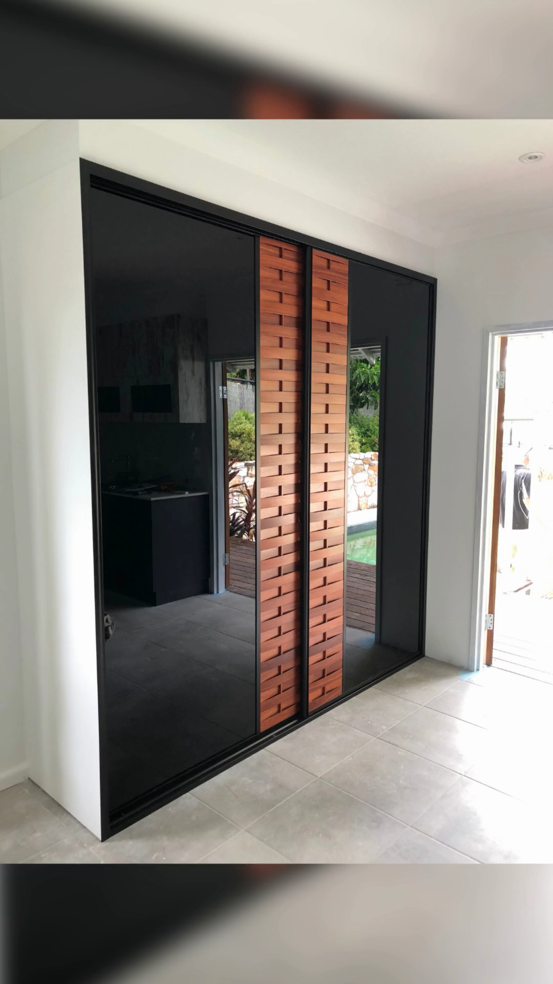 Louvre Sliding Doors With Black Glass Video Glass Room Divider Sliding Doors Interior And Exterior