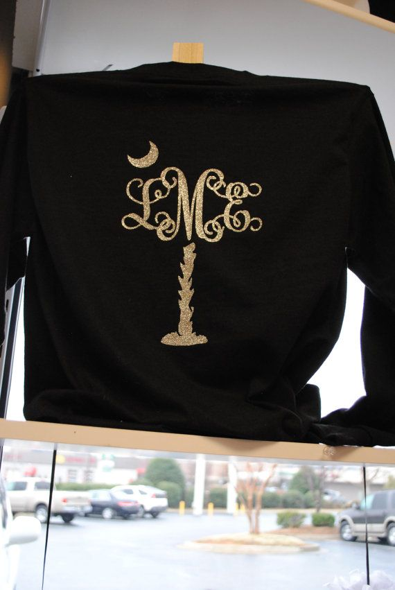 Monogrammed Palmetto Tree Long Sleeved TShirt by TheSassyLetter, $24.99