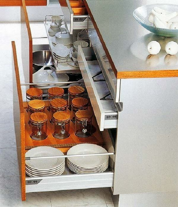 Kitchen Cabinets With Drawers 16 Functional Storage Solutions Http Www