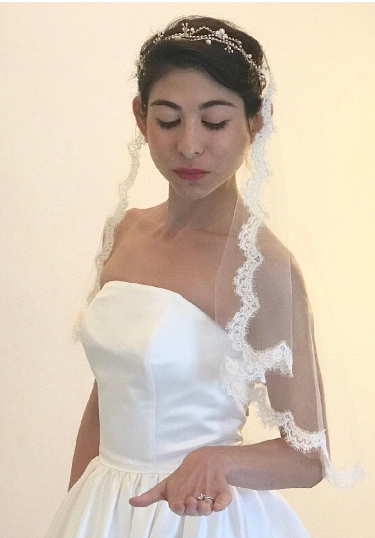 Bridal headpiece gold wreath wedding headpiece bridal