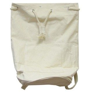 Natural Drawstring Duffle Bag | Shops, Cotton canvas and Sequin fabric