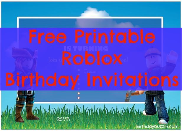 Throwing A Roblox Birthday Party Use These Free Printable Invitations To Send The